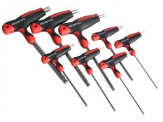 Faithfull FAIHKS8MTBLA T Handle Ball Ended Hex Key Set of 8