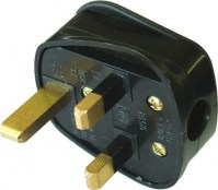 Faithfull FPPPLUG13R Black Rubberised Plug 240 Volt 13 Amp