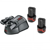 Bosch GBA1082SET (1600A002X2) - 10.8V lli-ion 2Ah Starter Set with 2 Batteries and Charger