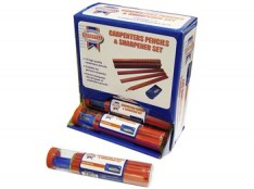 Carpenters Pencils Tube (Tube of 12 + Sharpener) FAICPDISP