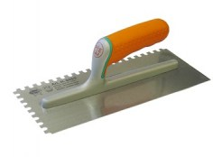 Adhesive Trowel 8mm Serrated Edge Soft Grip Handle 11 x 4.3/4 in FAISGSE