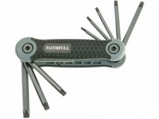 Faithfull FAITKSF8 Folding Torx® Star Key Set of 8 (T9-T40)