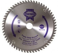 Circular Saw Blade 250 x 30mm x 60T TCG Fine Finish FAIZ25060TCG