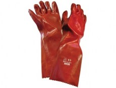 Scan PVC Gauntlets Red