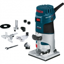 Bosch Palm Router GKF 600 + Accessories
